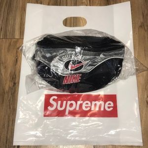 Nike Bags - NEW SS19 Supreme X Nike Shoulder Bag SILVER NEW